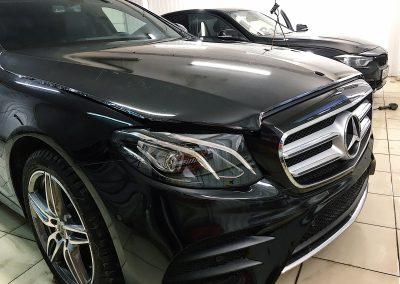 Комплексное бронирование антигравийной плёнкой — Mercedes E200