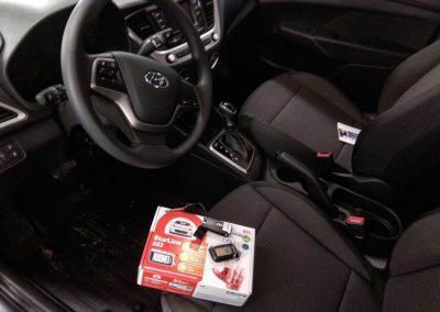 Сертифицированная установка автосигнализации StarLine A93 и установка камеры заднего вида — Hyundai Solaris