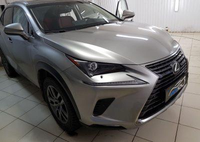 Бронирование антигравийной плёнкой капота, фар и порогов — Lexus NX