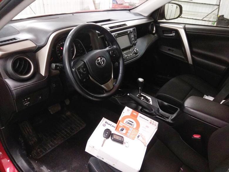 Сертифицированная установка сигнализации StarLine A93 и иммобилайзера StarLine i95 — Toyota Rav 4