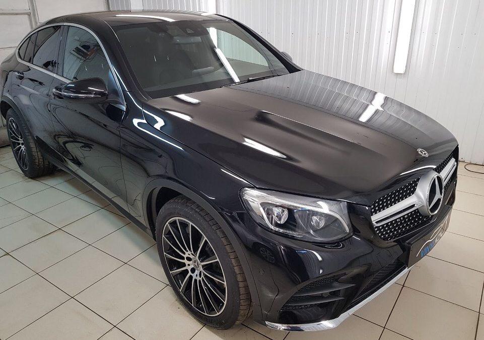 Комплексная защита (бронирование) антигравийной плёнкой Hexis Bodyfence — Mercedes GLC Coupe