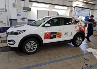 Брендирование к Чемпионату Мира по футболу FIFA 2018 — Hyundai Tucson