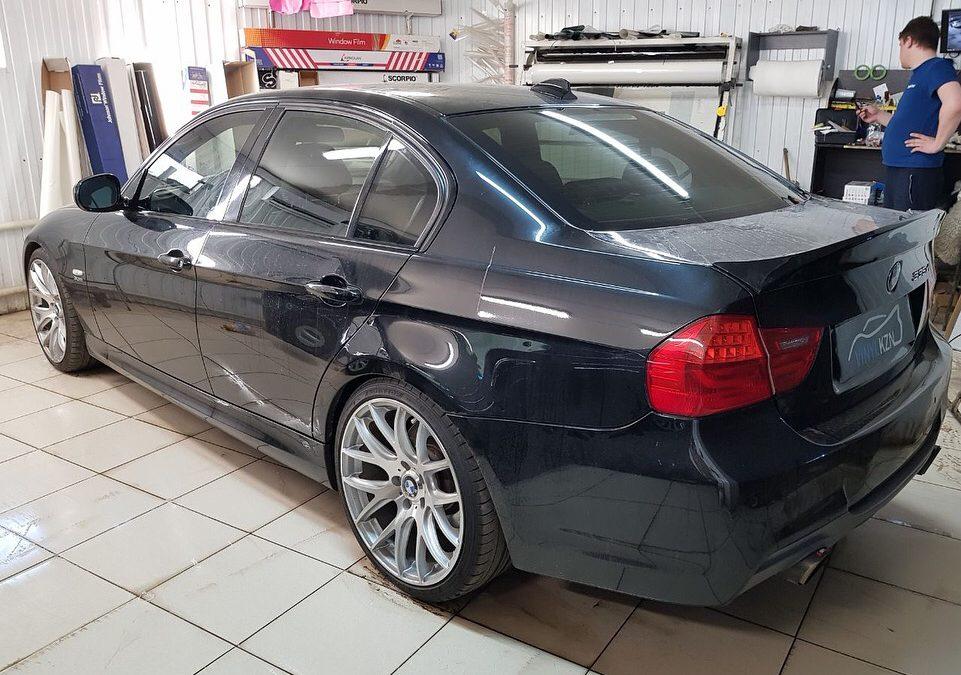 Тонировка стекол 65% по кругу без лобового — BMW 3 серии