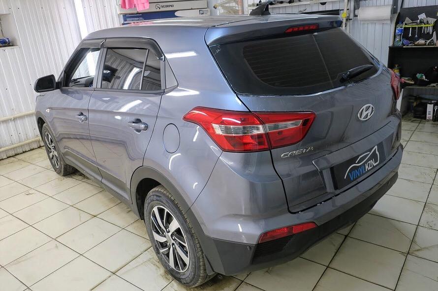 Тонировка задней полусферы пленкой Ultra Vision Supreme (Thermo) — Hyundai Creta