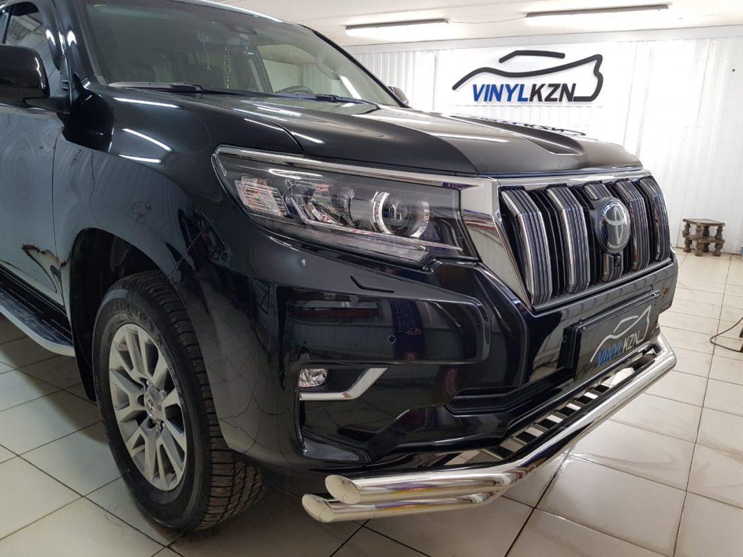 Бронирование передней части авто, полная полировка и нанесение жидкого стека — Toyota Land Cruiser Prado