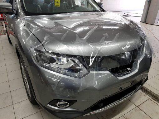 Комплексная защита кузова авто антигравийной пленкой — Nissan X-Trail