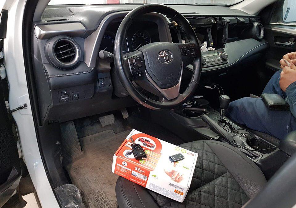 Сертифицированная установка сигнализации StarLine S96 — Toyota Rav4