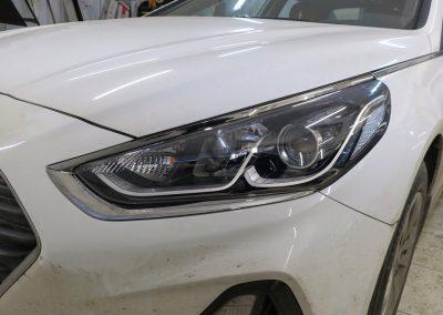 Hyundai Sonata — бронирование фар полиуретановой пленкой Hexis Bodyfence