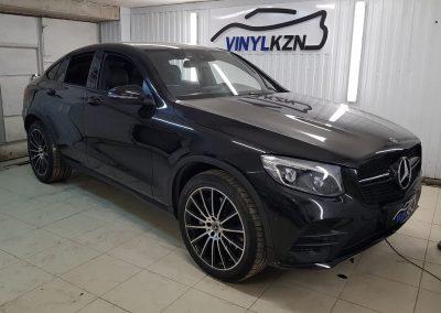 Оклейка хромированных элементов чёрной глянцевой пленкой КПМФ — Mercedes GLE Coupe