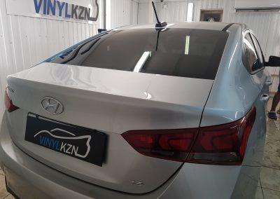 Тонировка задней части авто 95% пленкой Ultra Vision — Hyundai Solaris
