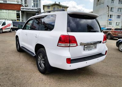 Оклеили белой матовой пленкой КПМФ — ToyotaLandCruiser200