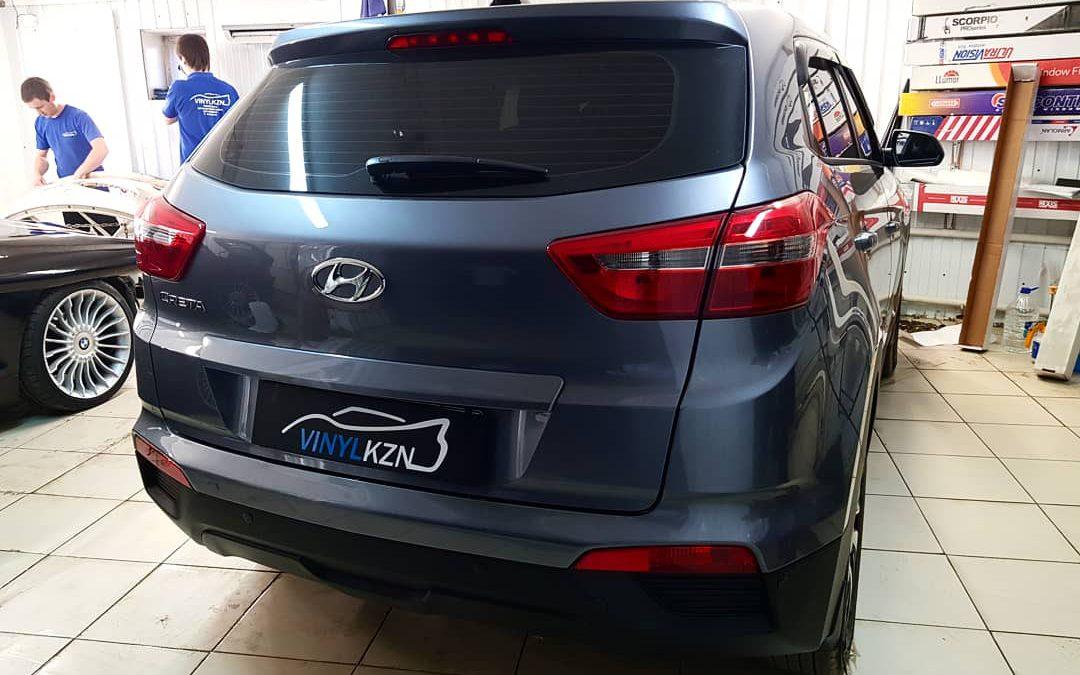 Тонирование задней части 95% пленкой UltraVision и передней 30% — Hyundai Creta