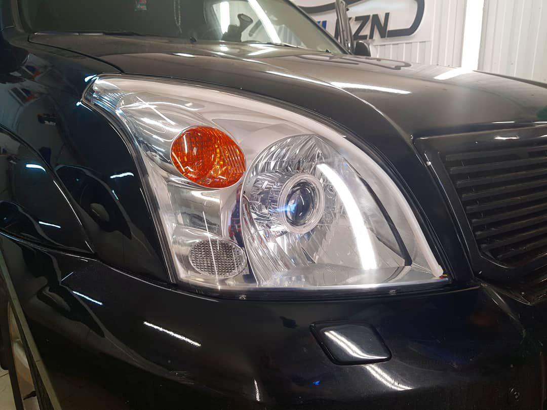 Полировка фар авто Toyota LC Prado