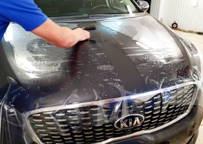 Бронирование передней части кузова пленкой от немецкого производителя Oraguard — Kia Sportage