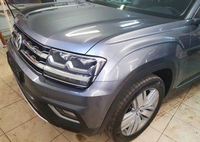 Бронирование передней части авто — фары, капота, боковых зеркал, бампера, рамку лобового стекла — VW Teramont