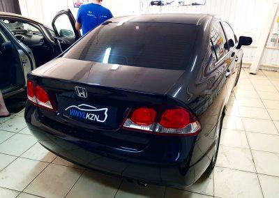 Тонирование передних боковых стекол  пленкой UV Supreme Thermo 50% — Honda Civic