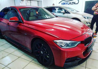Тонирование по кругу без лобового стекла пленкой Supreme Thermo  85% — BMW 3 серии