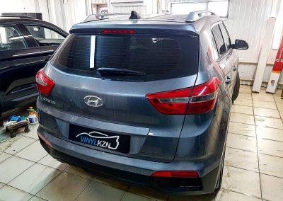 Тонирование задней части авто пленкой UV Supreme Thermo 95% с атермальными свойствами — Hyundai Creta