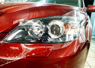 Бронирование фар автомобиля Mazda 3