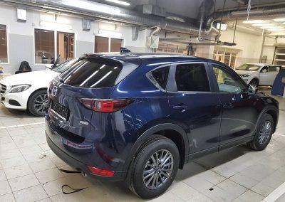 Бронирование, капота, части бампера и фар автомобиля полиуретановой пленкой Hexis Bodyfence — Mazda CX 5