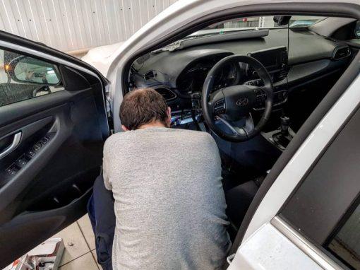 Установка сигнализации StarLine на автомобиль Hyundai I30