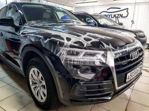 Бронирование капота, бампера и фар, немецкой пленкой Oraguard — Audi Q5