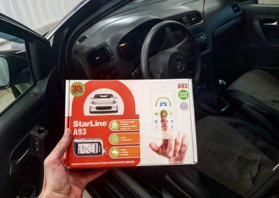 Установка сигнализации Starline A93 — VW Polo