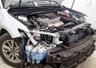 Установка замков капота и метки на Toyota Camry V70