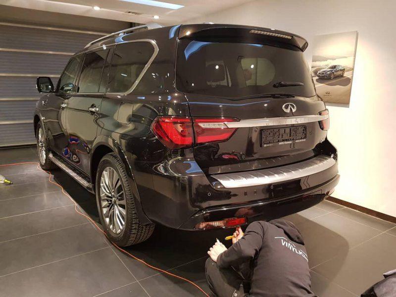 Бронирование автомобиля полиуретановой пленкой HEXIS Bodyfance — INFINITI Qx80