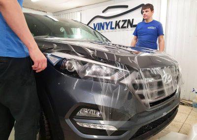 Бронирование всей передней части кузова автомобиля Hyundai Tucson