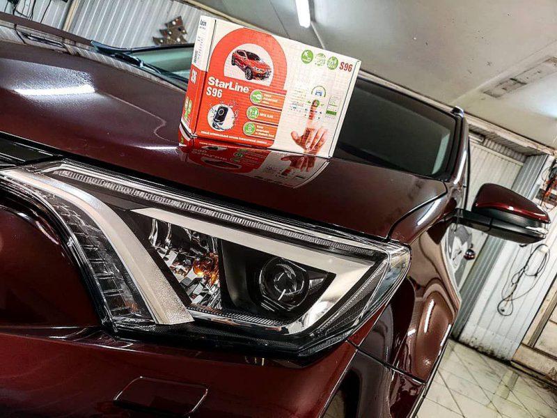 Комплексное бронирование передней части авто Toyota Rav 4, установка сигнализации шестого поколения