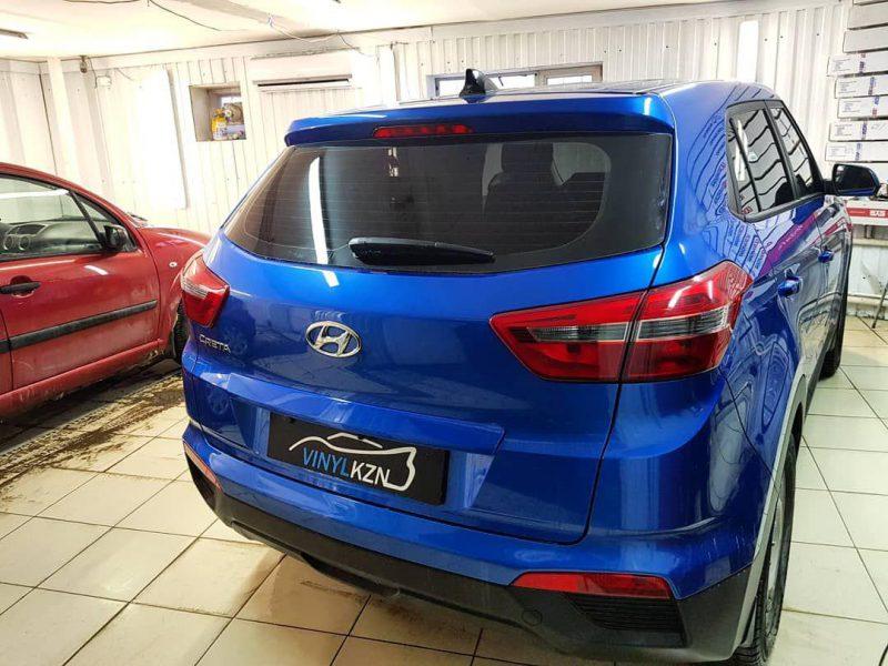 Затонировали Hyundai Creta пленкой UltraVision Supreme (Thermo) HP 95% затемнения, передние боковые 30%