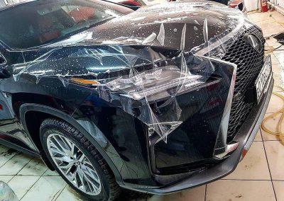 Бронирование капота, фар, порогов и под ручками. Тонировка пленкой Llumar 50% боковых и 95% задних стекол — Lexus RX