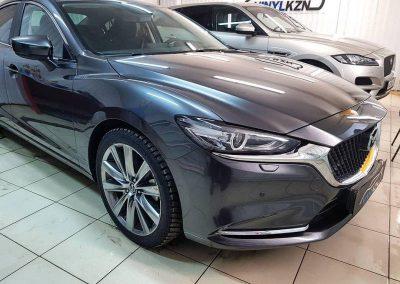 Mazda 6 — Бронирование полиуретановой пленкой Hexis Bodyfance передней части авто и зоны риска повреждения ЛКП