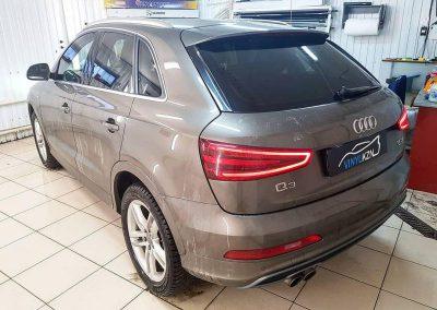 Тонировка пленкой Llumar 50% передних боковых стекол, задней части 65% затемнения — Audi Q3