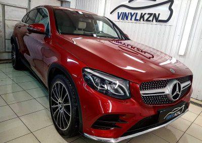 Бронирование передней части авто и тонировка стекол — Mercedes GlC