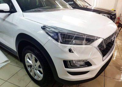 Hyundai Tucson — Бронирование передней части кузова. Скрытая проводка регистратора и антирадара