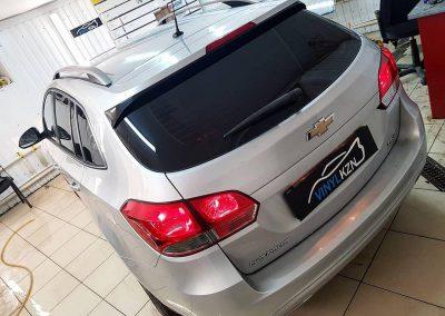 Тонирование задней части автомобиля Chevrolet Cruze универсал — 2000 руб.