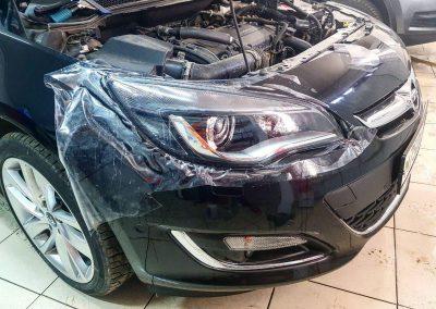 Бронирование передней оптики 1500 руб. — Opel Astra
