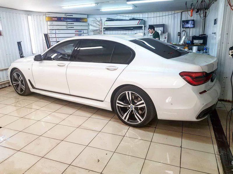 BMW 7 Long — тонировка стекол автомобиля пленкой Llumar