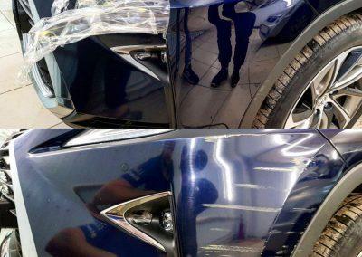 Демонтаж старой антигравийной пленки с дальнейшем нанесением новой Oraguard — Lexus RX