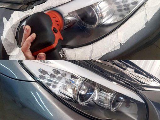 Полировка фар автомобиля BMW 5 серии