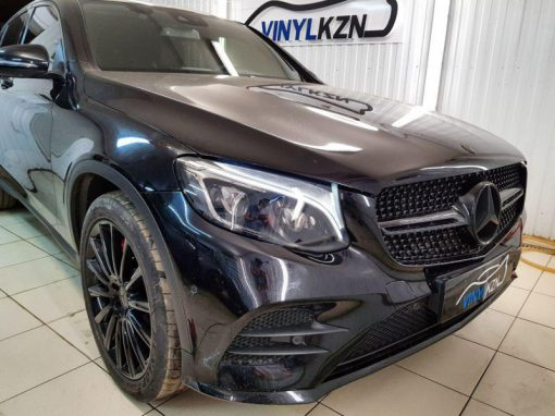 Затонировали передние фары полиуретаном,  задние фары пленкой Oracal 8300 — Mercedes-Benz GLC Coupe