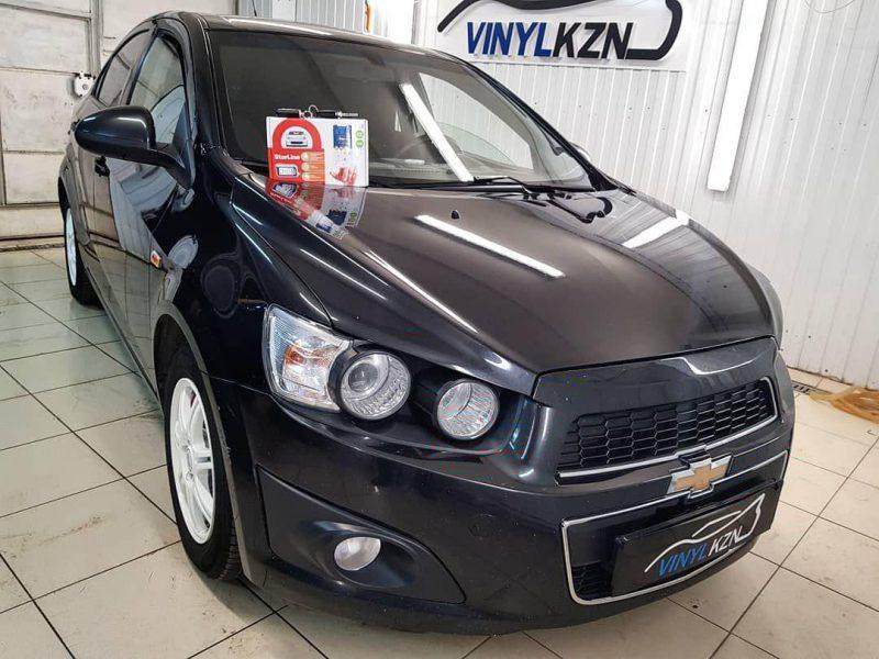 Очередной автомобиль оснащен охранным комплексом Starline A93 — Chevrolet Aveo