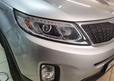 Полировка фар автомобиля Kia Sorento