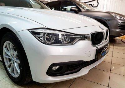 BMW 3 серии — бронирование бампера автомобиля антигравийной пленкой Oraguard