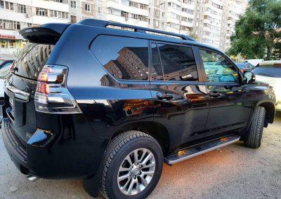 Toyota Land Cruiser Prado — полировка кузова, бронирование полиуретановой пленкой HEXIS Bodyfance