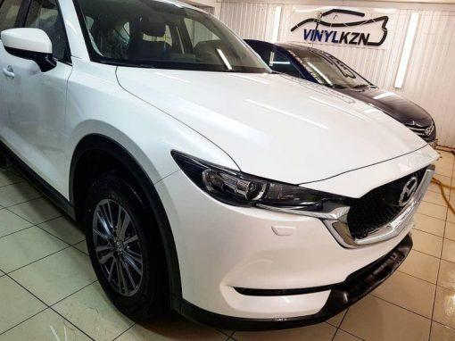 Бронирование кузова автомобиля Mazda CX5 полиуретановой пленкой