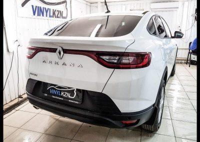 Renault Arkana на тонирование задней части авто пленкой NDFOS 95% и бронирование порогов и мест под ручками, немецкой пленкой Oraguard