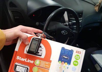 Установка сигнализации StarLine A93 на автомобиль Hyundai Solaris